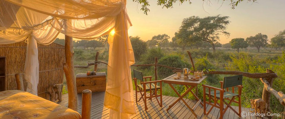 Flatdogs Camp und Game Lodge in Süd Luangwa in Sambia