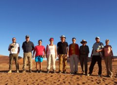 Africa Adventure Travel Reisegruppe in Sossusvlei, Namibia