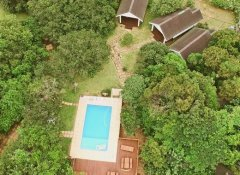 Swimming Pool in der Dream Beach Lodge in Ponta do Ouro