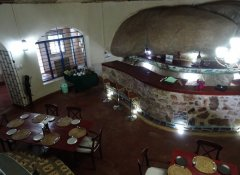 Restaurant in der Mwitongo Lodge