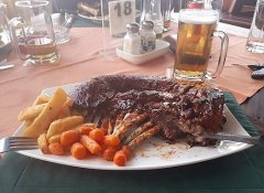 Steakgericht im Skubbe Pub & Grill in Henties Bay